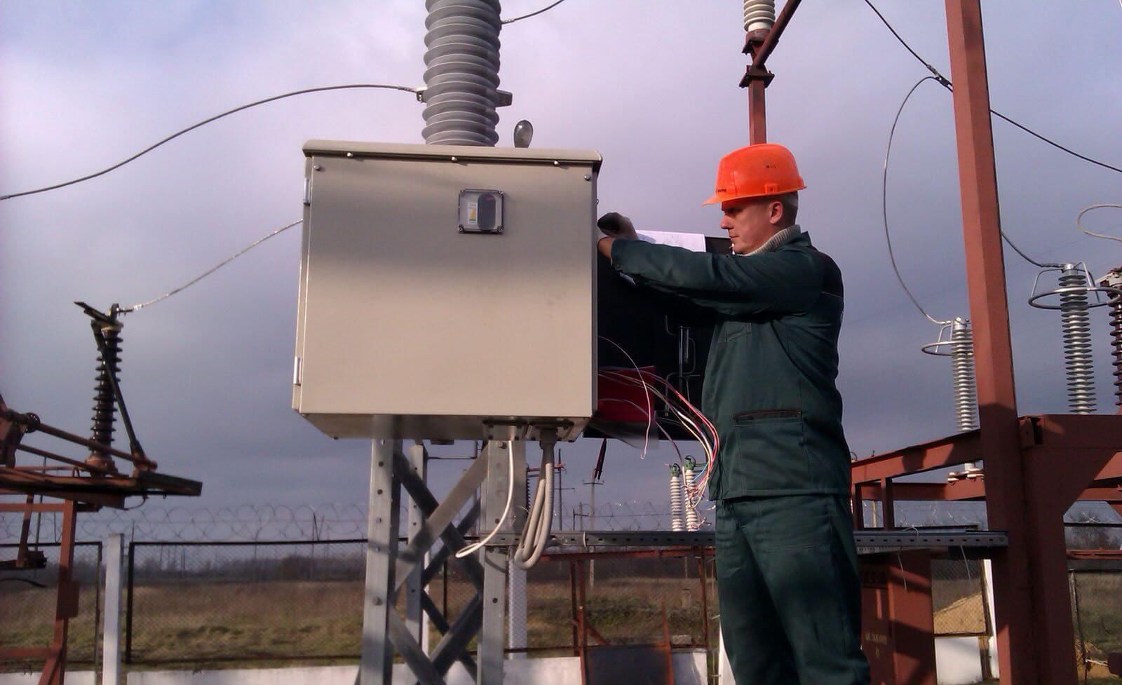 монтаж электрических сетей наружных