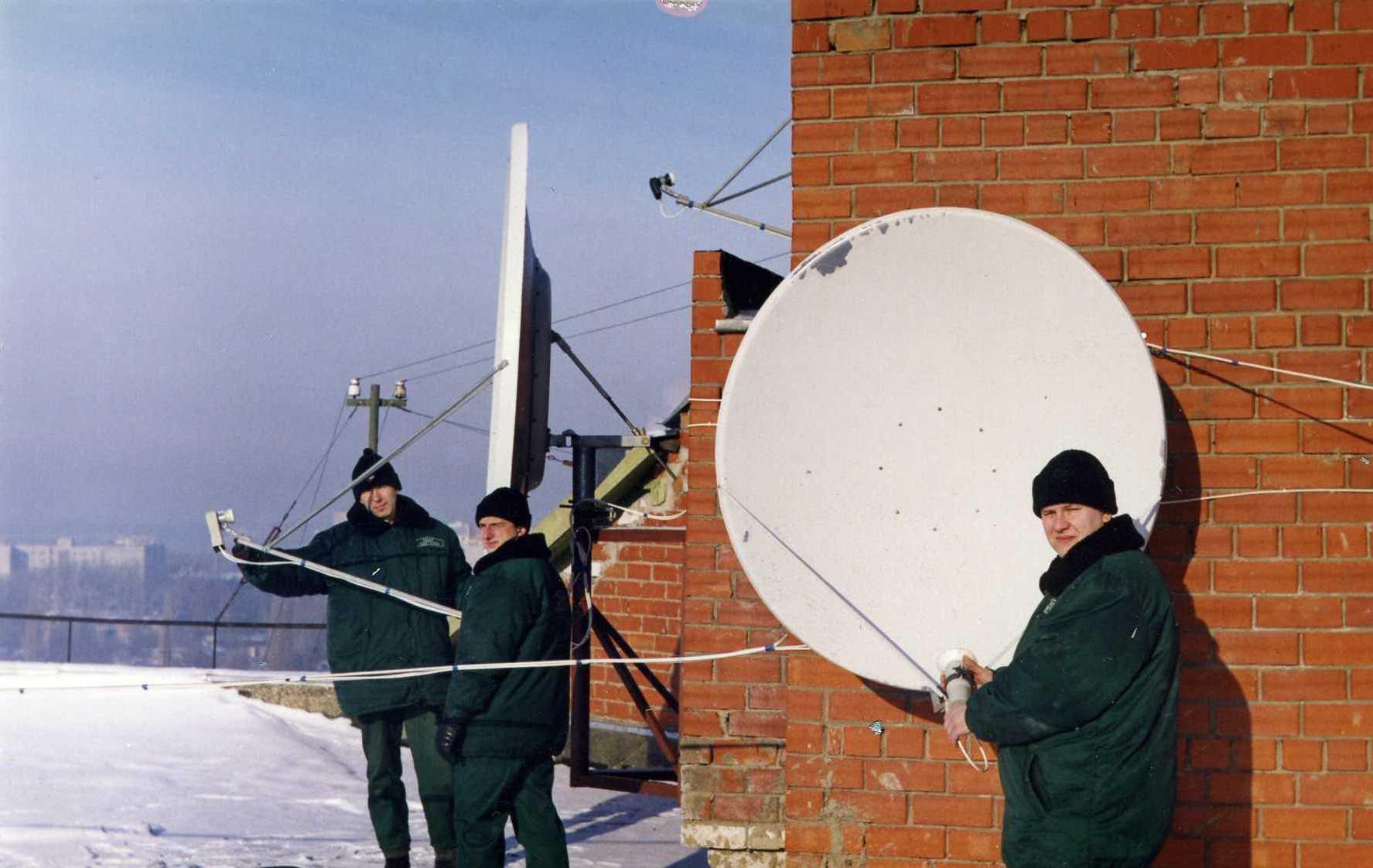 установка системы спутникового телевидения
