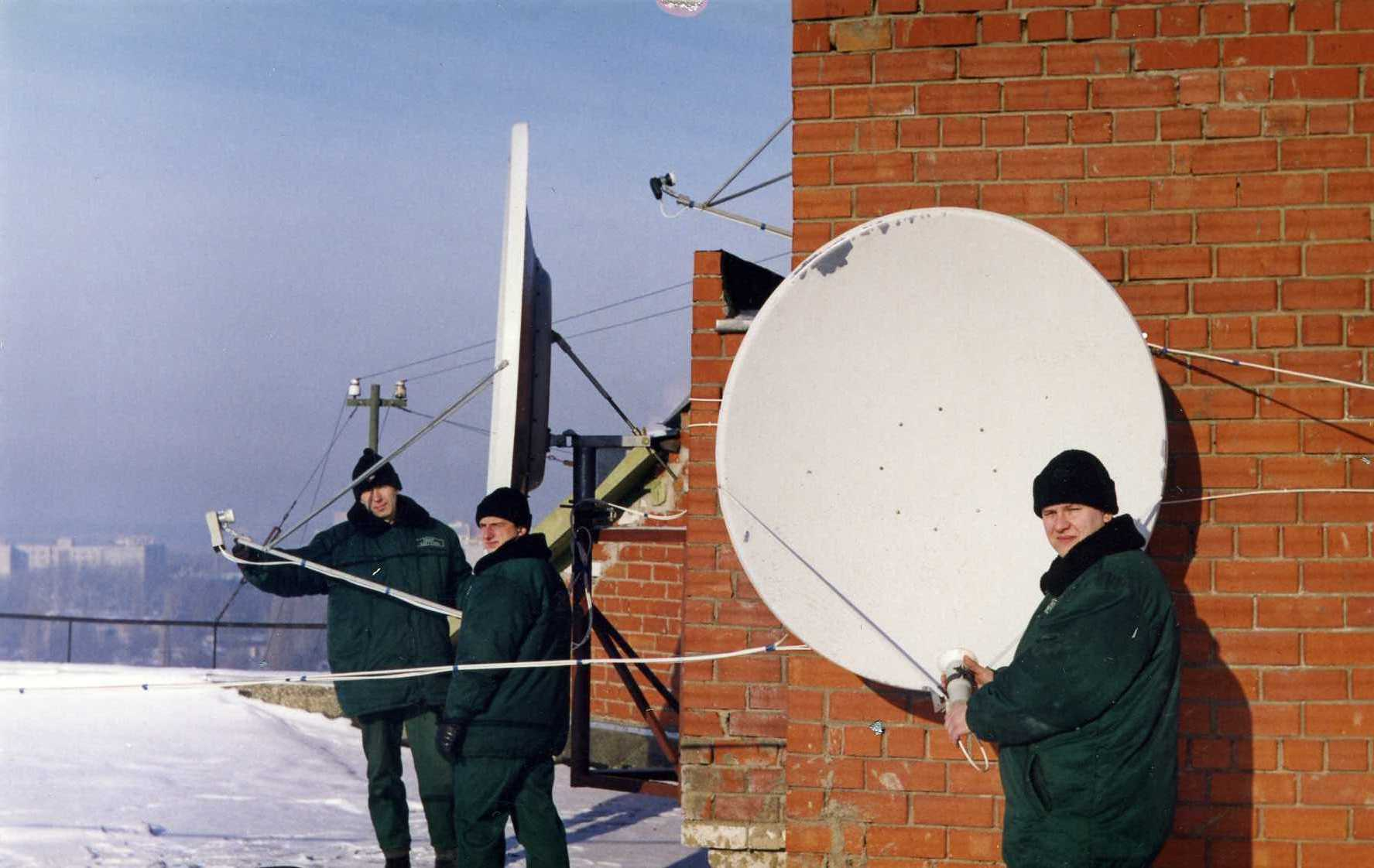 Установка спутниковых антенн своими руками фото